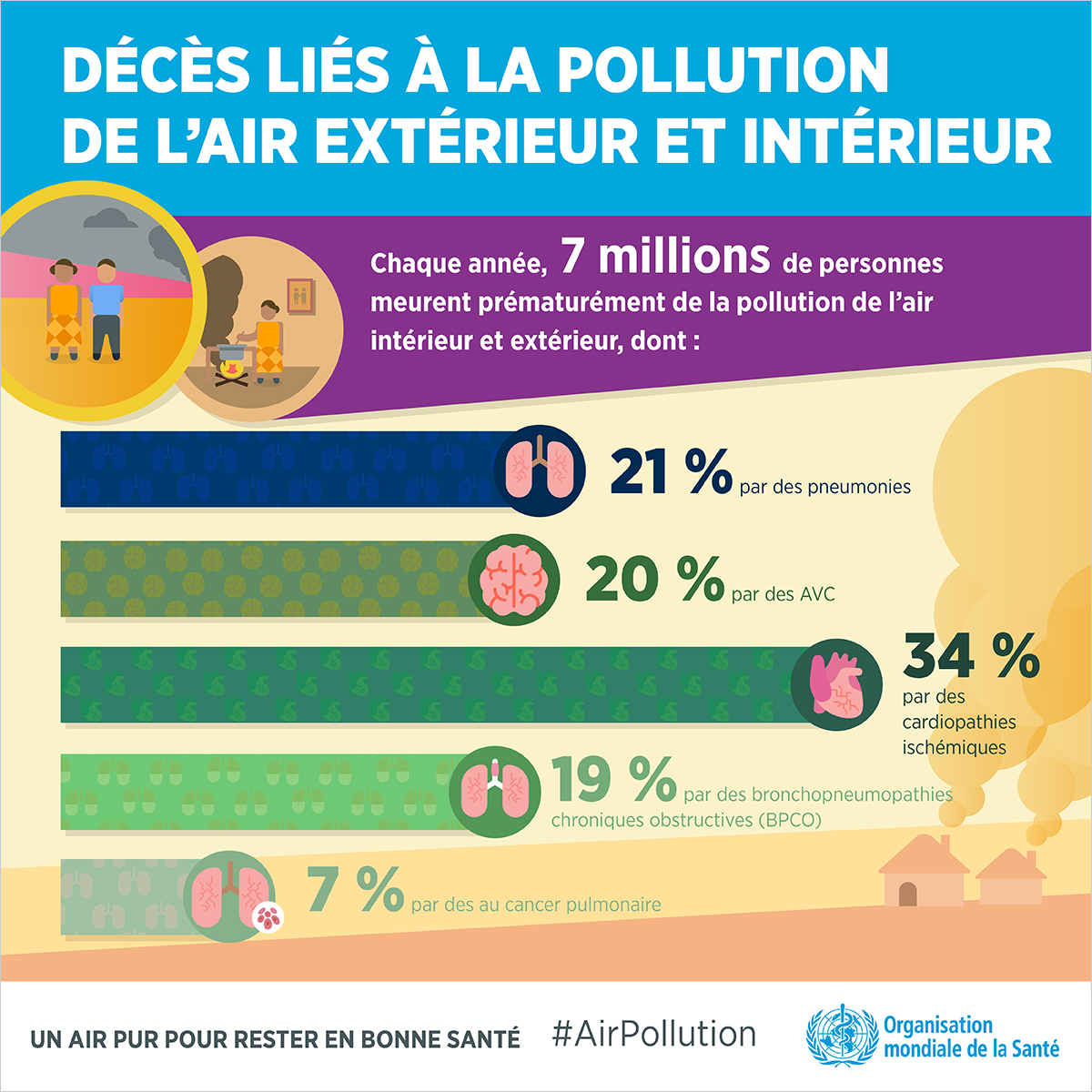 pollution air infographic oms